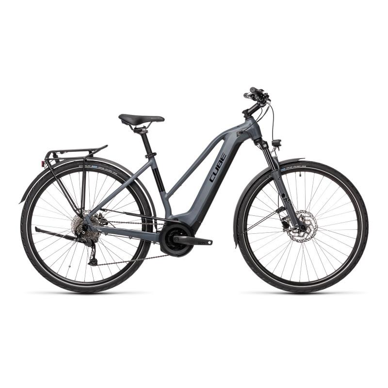 Vélo Electrique Cube Touring Hybrid One 400 Trapèze Gris/Noir 2021 (431050)