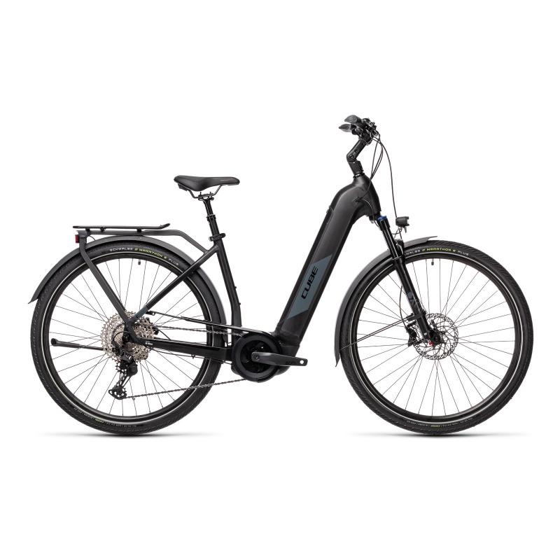 Vélo Electrique Cube Kathmandu Hybrid EXC 625 Easy Entry Noir/Gris 2021 (431252)