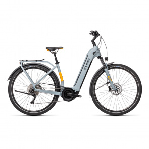 Cube 2021 Vélo Electrique Cube Touring Hybrid Pro 625 Easy Entry Gris/Orange 2021
