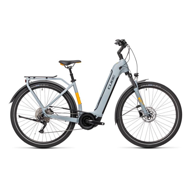 Vélo Electrique Cube Touring Hybrid Pro 625 Easy Entry Gris/Orange 2021