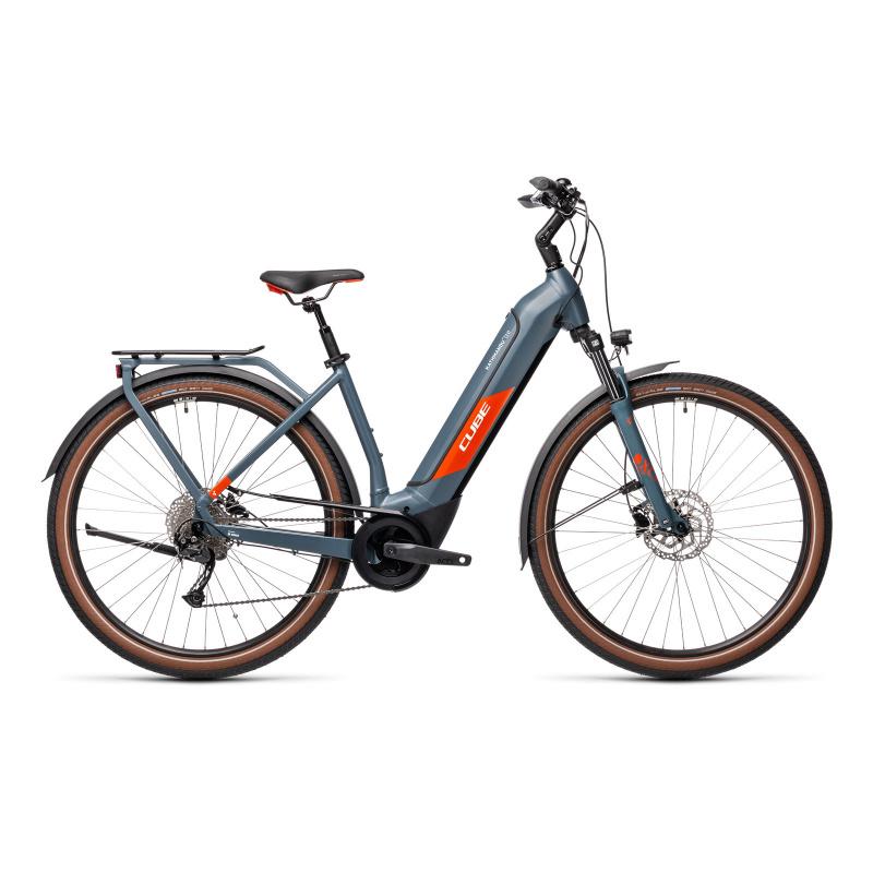 Vélo Electrique Cube Kathmandu Hybrid One 500 Easy Entry Bleu/Rouge 2021 (431181)