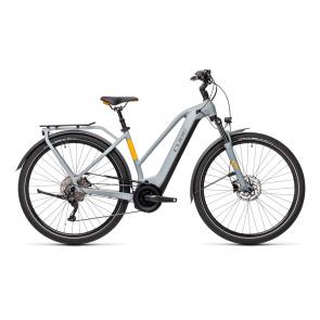 Cube 2021 Vélo Electrique Cube Touring Hybrid Pro 500 Trapeze Gris/Orange 2021