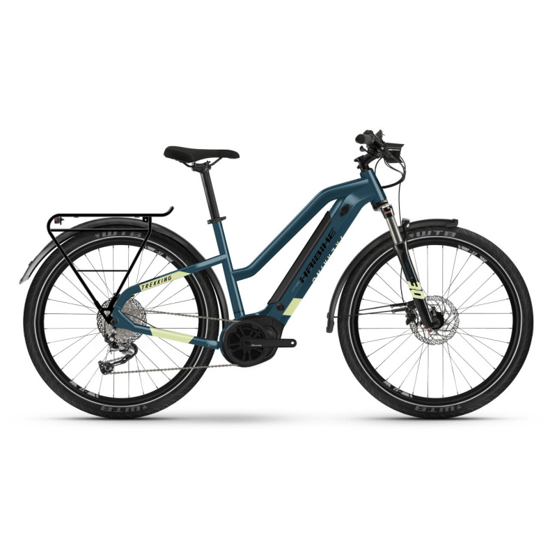 Vélo Electrique Haibike Trekking 5 i500 Easy Entry Bleu/Jaune 2021 (451001) (45100144)
