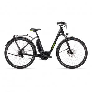 Cube 2021 Vélo Electrique Cube Town Hybrid One 400 Easy Entry Noir/Vert 2021