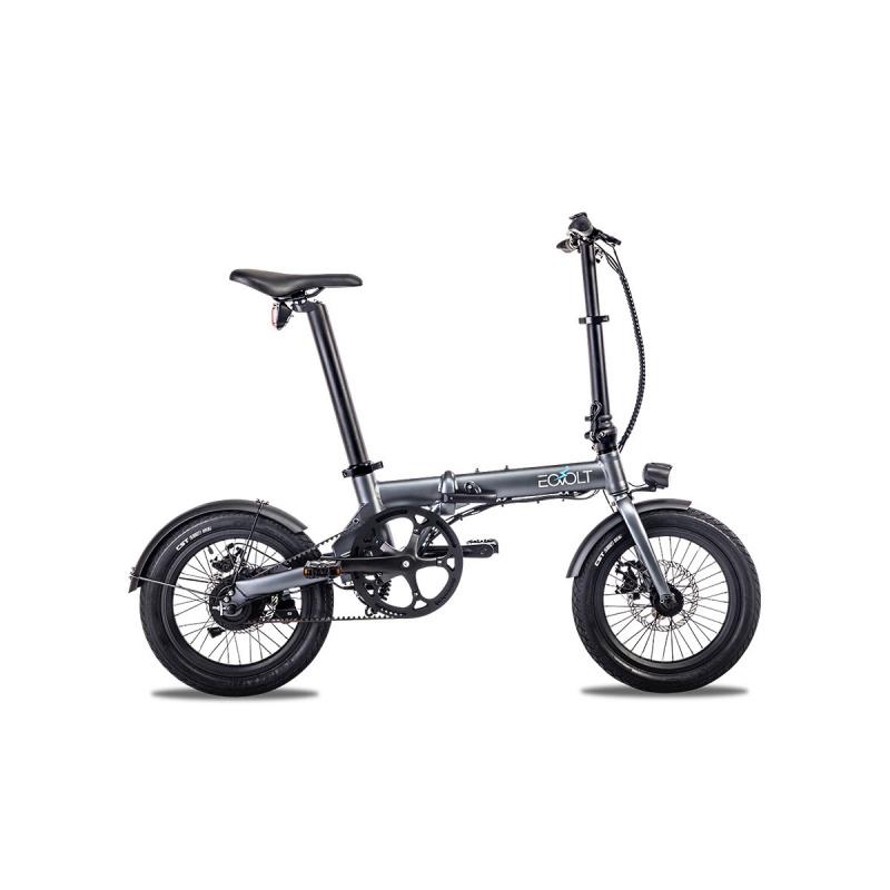 Vélo Electrique Pliable Eovolt City Belt Drive Gris Anthracite (EVO3-2)