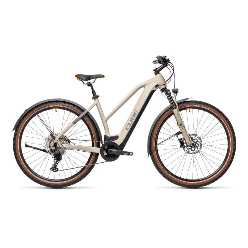 Vélo Electrique Cube Cross Hybrid Pro 625 Allroad Trapèze Désert/Orange 2021 (430212)