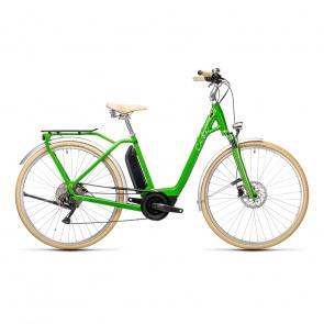 Cube 2021 Vélo Electrique Cube Ella Ride Hybrid 500 Easy Entry Vert/Blanc 2021