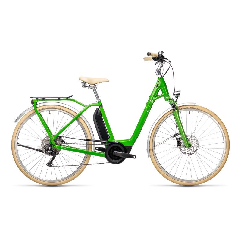 Vélo Electrique Cube Ella Ride Hybrid 500 Easy Entry Vert/Blanc 2021 (432511)