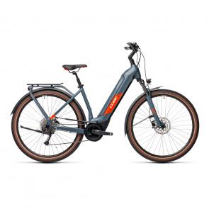 Cube 2021 Vélo Electrique Cube Kathmandu Hybrid One 625 Easy Entry Bleu/Rouge 2021