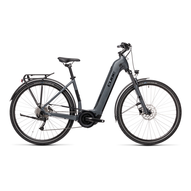 Vélo Electrique Cube Touring Hybrid One 400 Easy Entry Gris/Noir 2021 (431050)