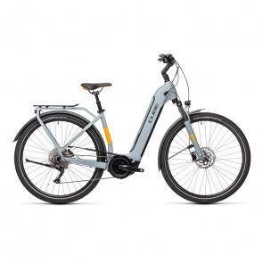 Vélo Electrique Cube Touring Hybrid Pro 500 Easy Entry Gris/Orange 2021 (431111)