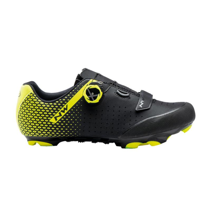 Chaussures VTT Northwave Origin Plus 2 Noir/Jaune Fluo 2021 (410328)
