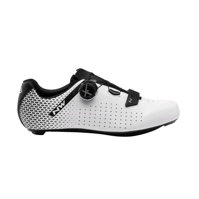 Chaussures Route Northwave Core Plus 2 Blanc/Noir 2021 (410333)