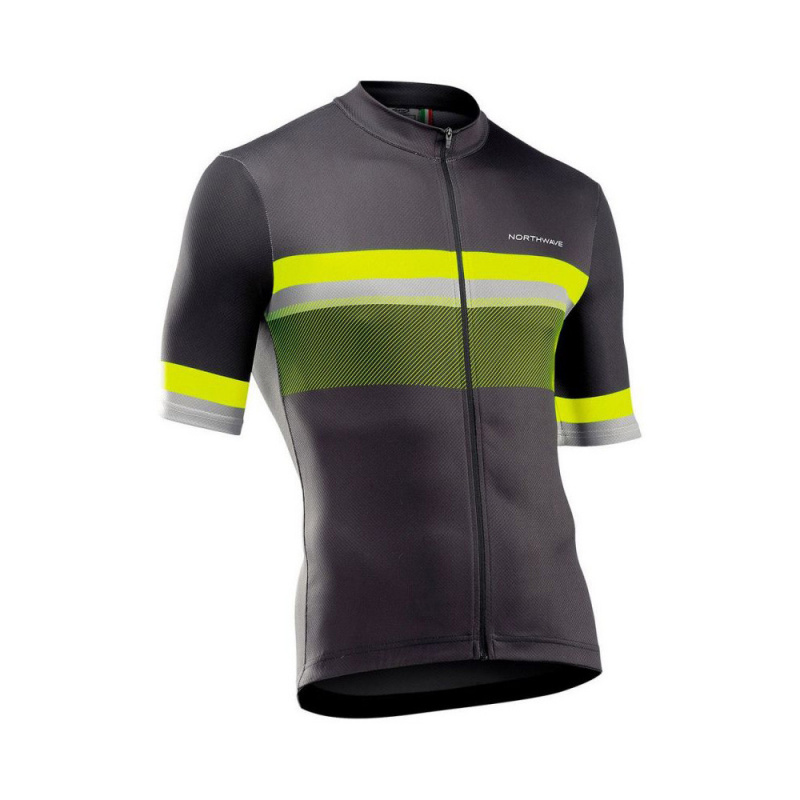 Maillot Northwave MC Origin Anthracite/Jaune FLuo 2021 (89211035)