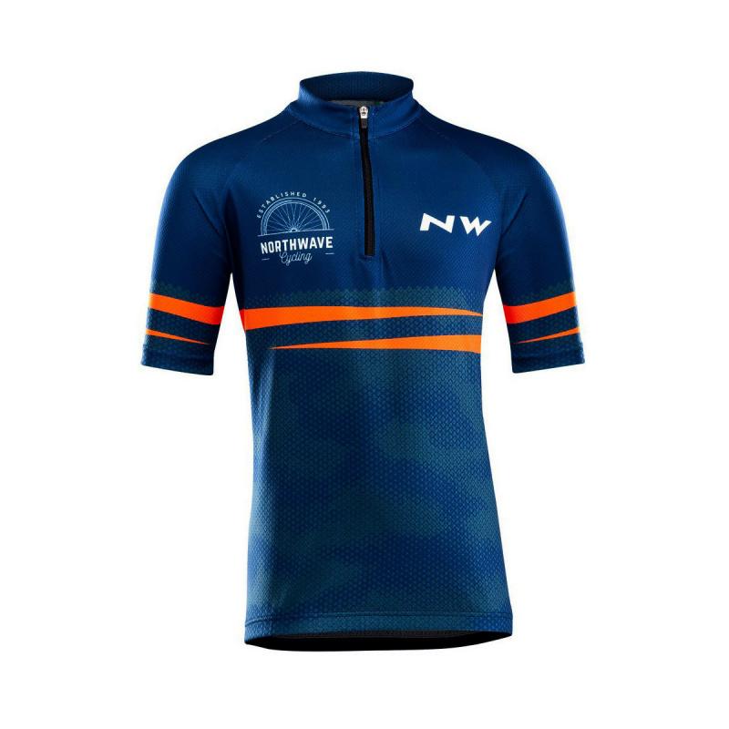 Maillot Northwave Junior Origin Bleu/Orange 2021