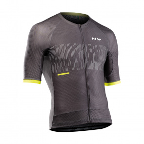 Northwave Maillot Northwave MC Storm Air Anthracite/Jaune Fluo 2021 (89201273)