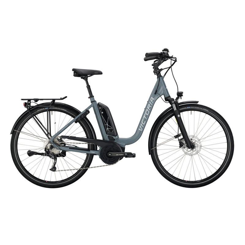 Vélo Electrique Victoria eTrekking 6.3 400 Easy Entry Gris Mat 2021  (2962611)