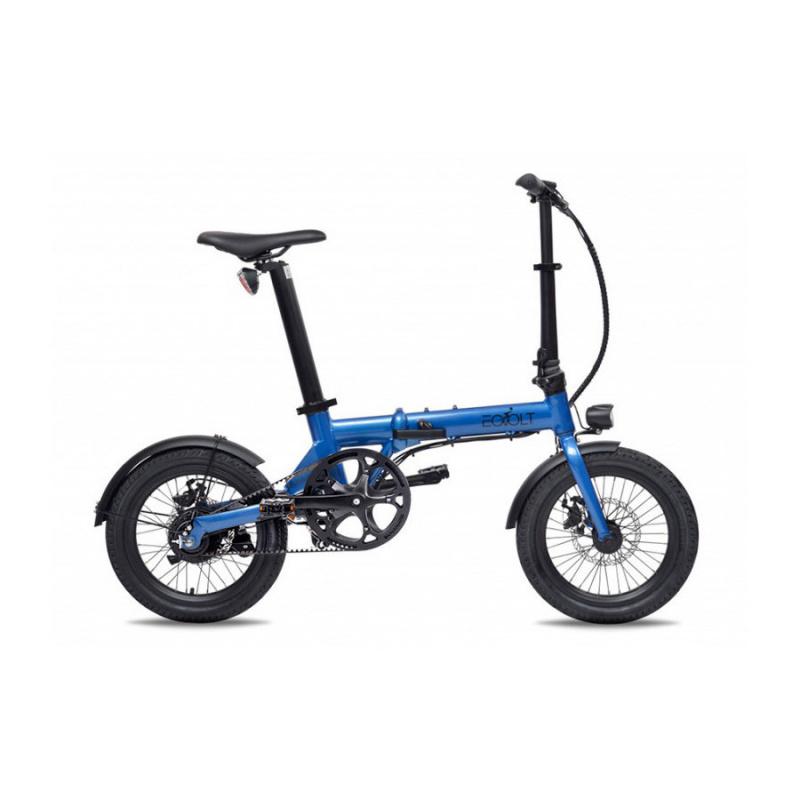 Vélo Electrique Pliable Eovolt City Belt Drive Bleu