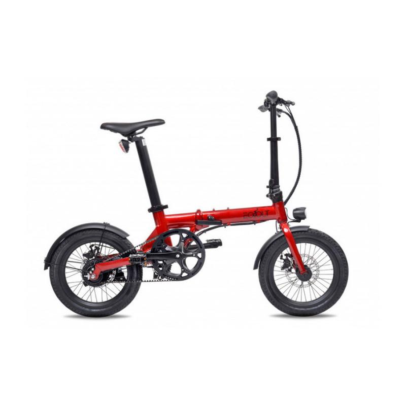 Vélo Electrique Pliable Eovolt City Belt Drive Rouge