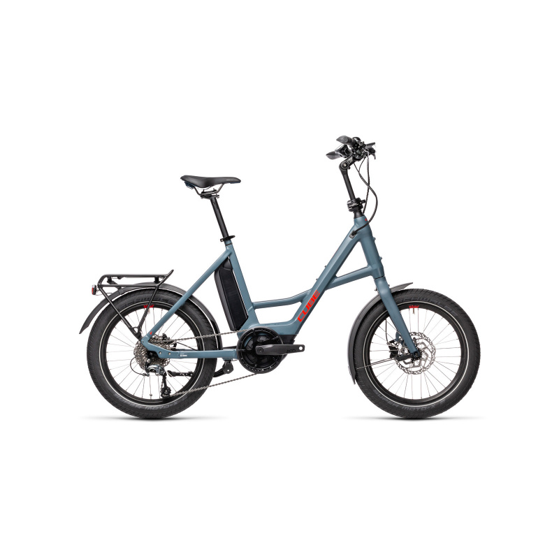 Vélo Electrique Cube Compact Sport Hybrid 500 Bleu/Rouge 2021 (389160)