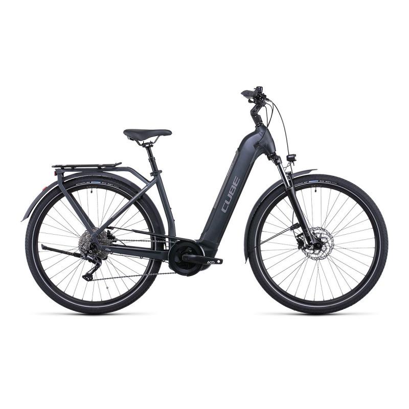 Vélo Electrique Cube Kathmandu Hybrid One 500 Easy Entry Iridium/Teak 2022 (531171)