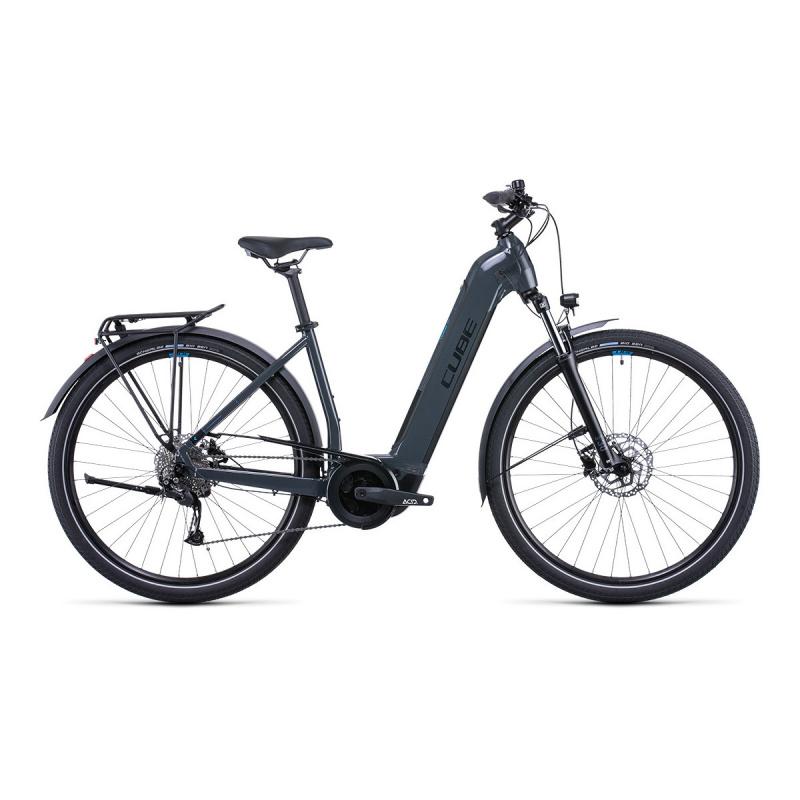 Vélo Electrique Cube Touring Hybrid One 500 Easy Entry Gris/Bleu 2022 (531051)