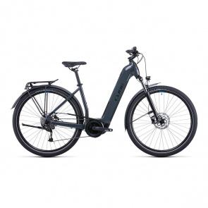 Cube 2022 Vélo Electrique Cube Touring Hybrid One 400 Easy Entry Gris/Bleu 2022 (531050)