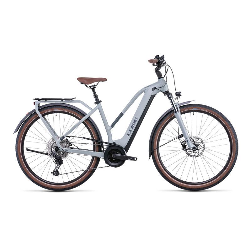 Vélo Electrique Cube Touring Hybrid Pro 625 Trapèze Lunar/Gris 2022 (531112)