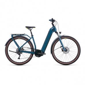 Cube 2022 Vélo Electrique Cube Kathmandu Hybrid One 500 Easy Entry Vert/Jaune 2022 (531181)