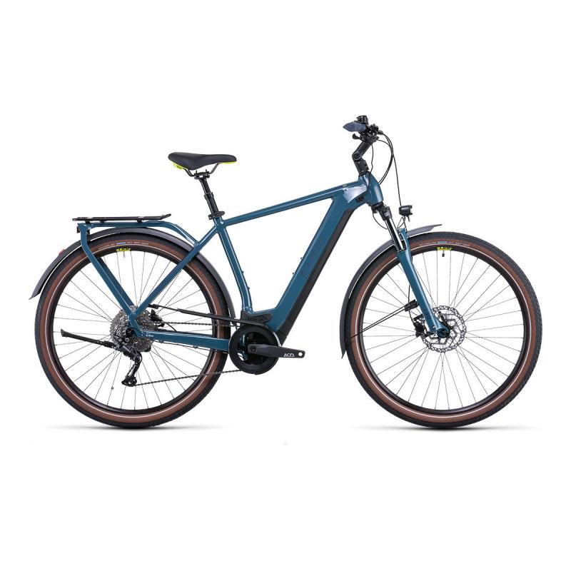 Vélo Electrique Cube Kathmandu Hybrid One 500 Vert/Jaune 2022 (531181)