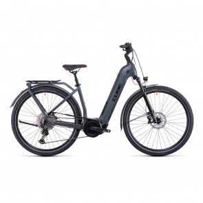 Cube Touring Hybrid EXC 500 Easy Entry Elektrische Fiets Grijs/Rood 2022