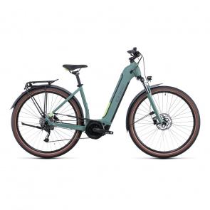 Vélo Electrique Cube Touring Hybrid One 500 Easy Entry Vert/Vert 2022