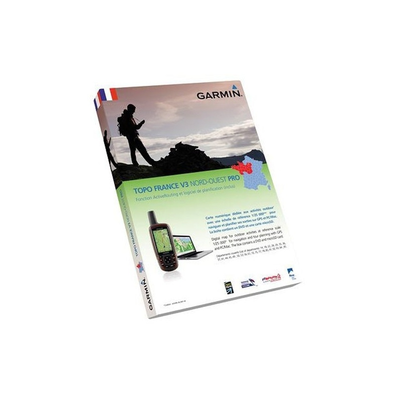 Carte Pour GPS Garmin Pro France Nord-Ouest Pack Carte Micro SD + DVD