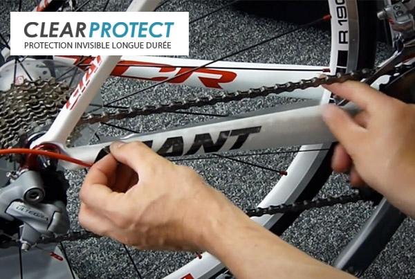 Clearprotect: onzichtbare bescherming voor uw frame, met 5 jaar garantie.