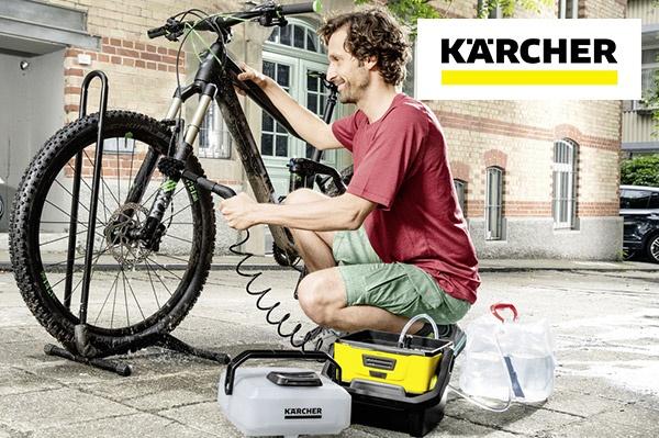 Le mini-Kärcher OC3 se charge de toutes vos tâches de nettoyage en cours de route